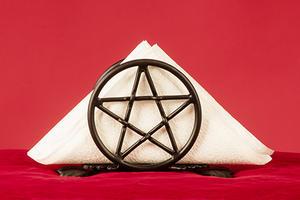 Servettställ pentagram