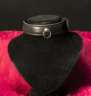 Fodrat collar i äkta läder