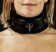 Vadderat Unisex Halsband med Päls