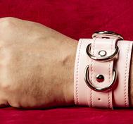 Rosa PU-Handbojor