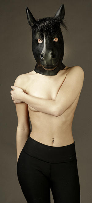 Latex hästmask