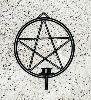 Enarmad  ljushållare pentagram