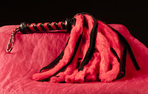 Kort Röd/Svart Shaman-piska